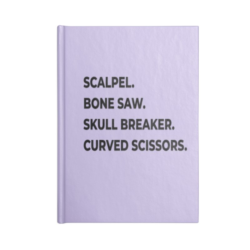 Brain Removal Essentials. Accessories Blank Journal Notebook by Dura Mater