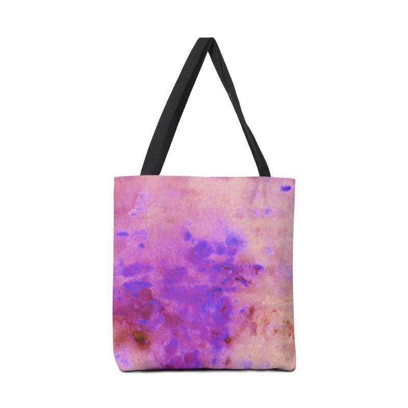 Blue Splatters on Purple Abstract Artwork