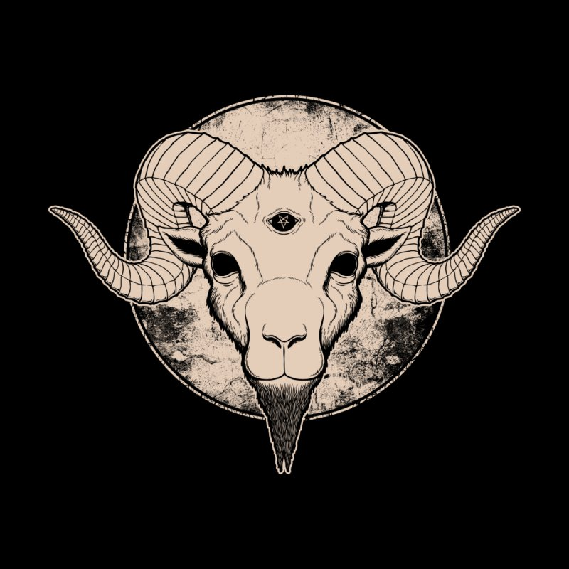 Three Eyed Goat None  by The Evil Goods Shop