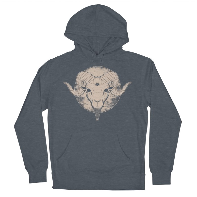 Three Eyed Goat Men's Pullover Hoody by The Evil Goods Shop