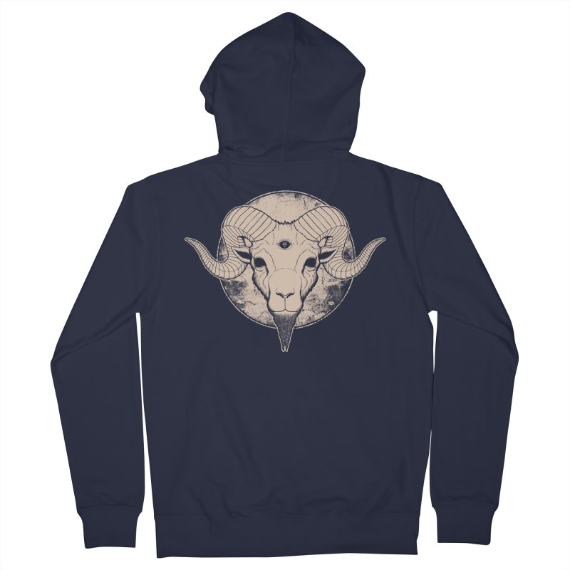Three Eyed Goat Women's Zip-Up Hoody by The Evil Goods Shop