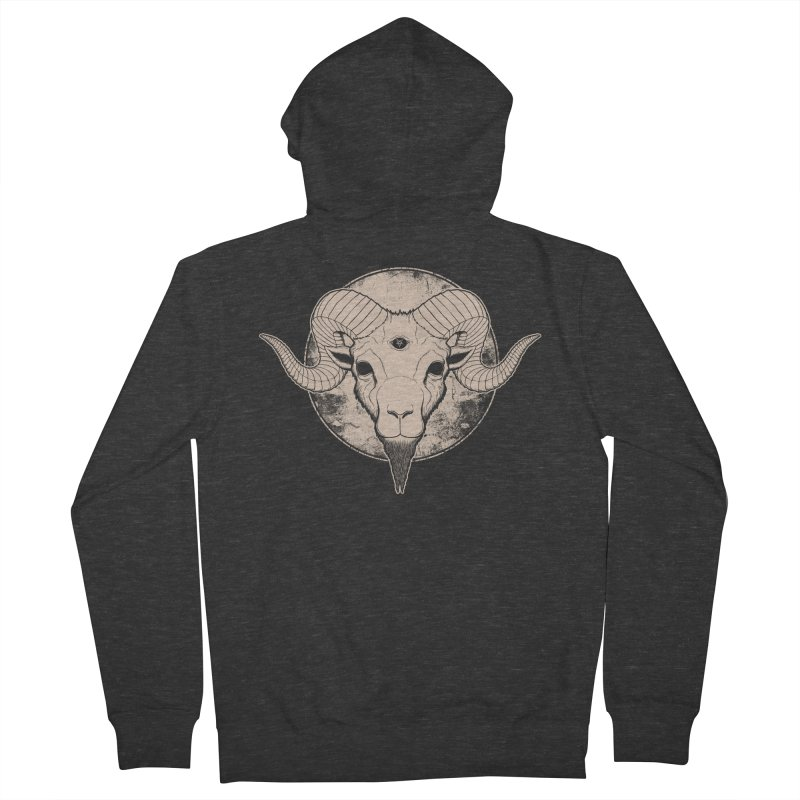 Three Eyed Goat Men's Zip-Up Hoody by The Evil Goods Shop