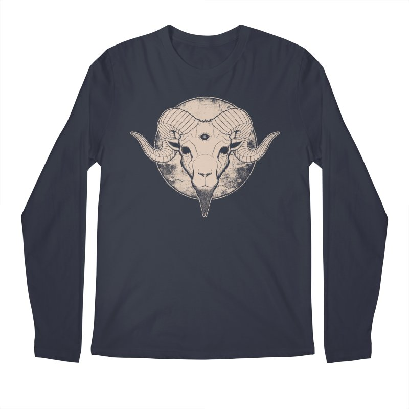 Three Eyed Goat Men's Longsleeve T-Shirt by The Evil Goods Shop