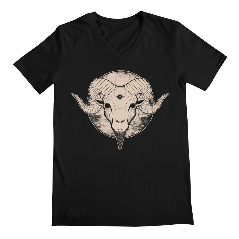 Three Eyed Goat Men's V-Neck by The Evil Goods Shop