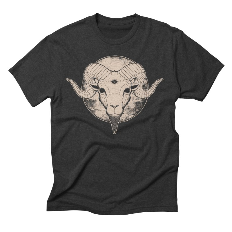Three Eyed Goat Men's Triblend T-shirt by The Evil Goods Shop