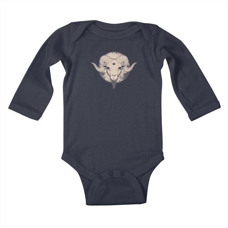 Three Eyed Goat Kids Baby Longsleeve Bodysuit by The Evil Goods Shop