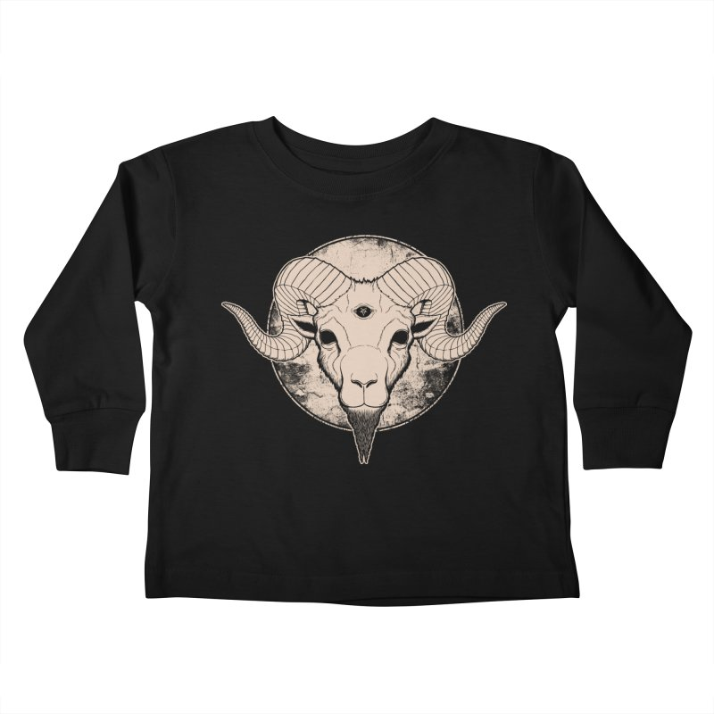 Three Eyed Goat Kids Toddler Longsleeve T-Shirt by The Evil Goods Shop
