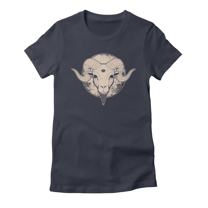 Three Eyed Goat Women's Fitted T-Shirt by The Evil Goods Shop