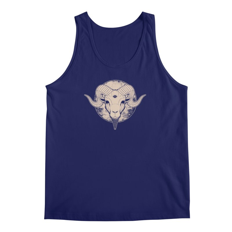 Three Eyed Goat Men's Tank by The Evil Goods Shop