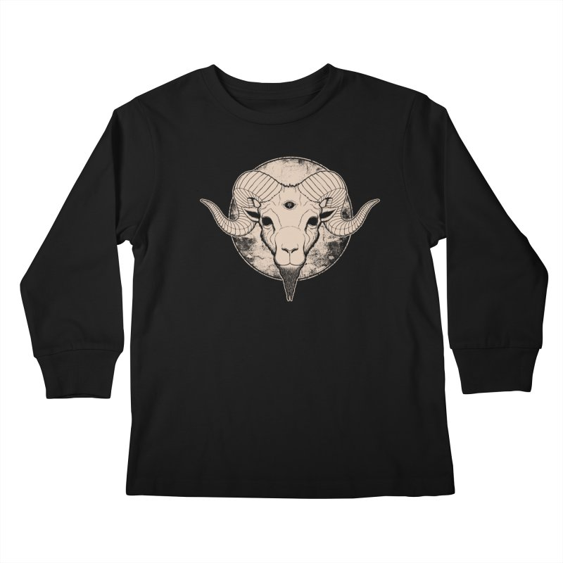 Three Eyed Goat Kids Longsleeve T-Shirt by The Evil Goods Shop