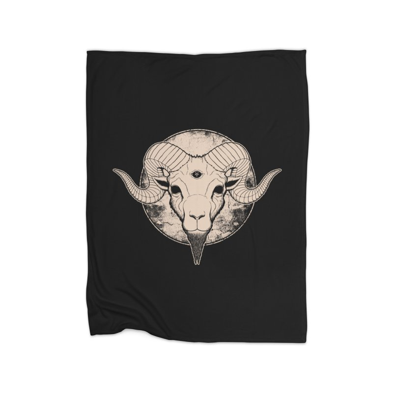 Three Eyed Goat Home Blanket by The Evil Goods Shop