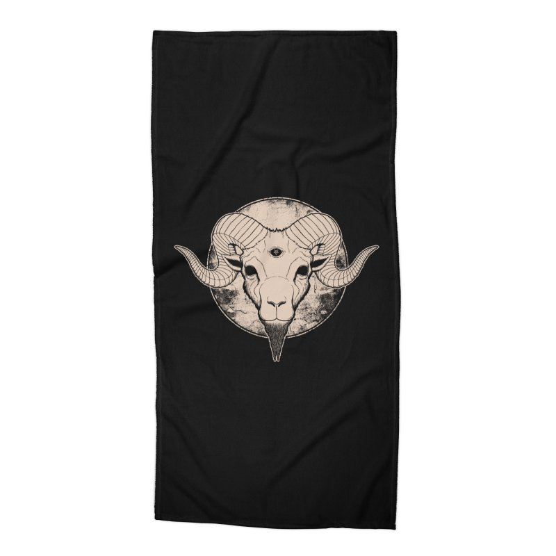 Three Eyed Goat Accessories Beach Towel by The Evil Goods Shop