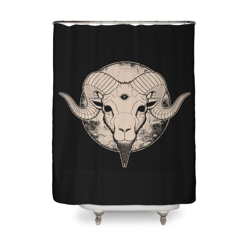 Three Eyed Goat Home Shower Curtain by The Evil Goods Shop