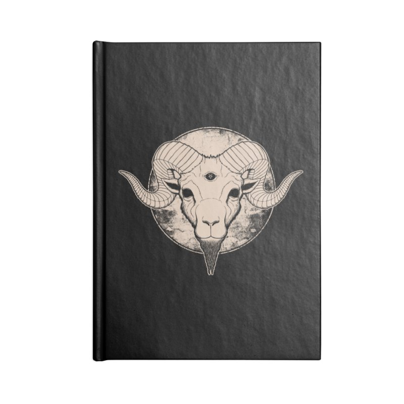 Three Eyed Goat Accessories Notebook by The Evil Goods Shop