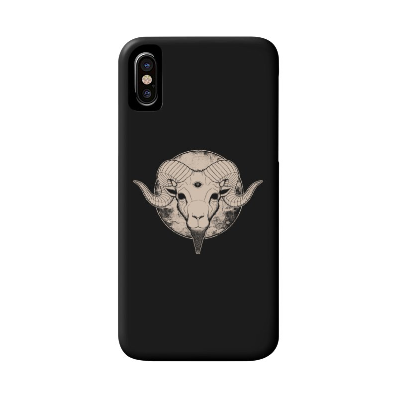 Three Eyed Goat Accessories Phone Case by The Evil Goods Shop