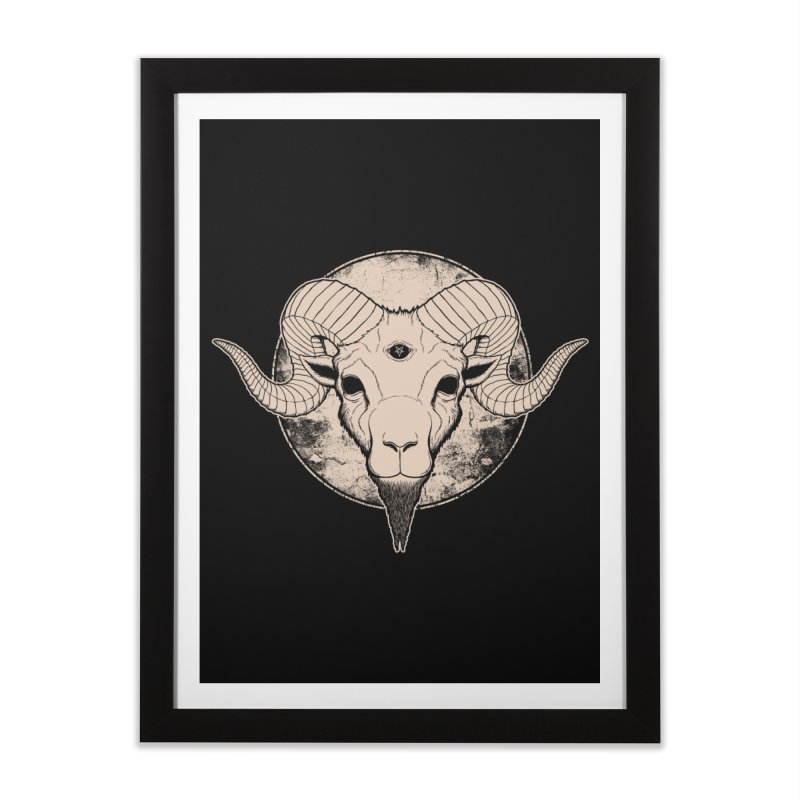Three Eyed Goat Home Framed Fine Art Print by The Evil Goods Shop