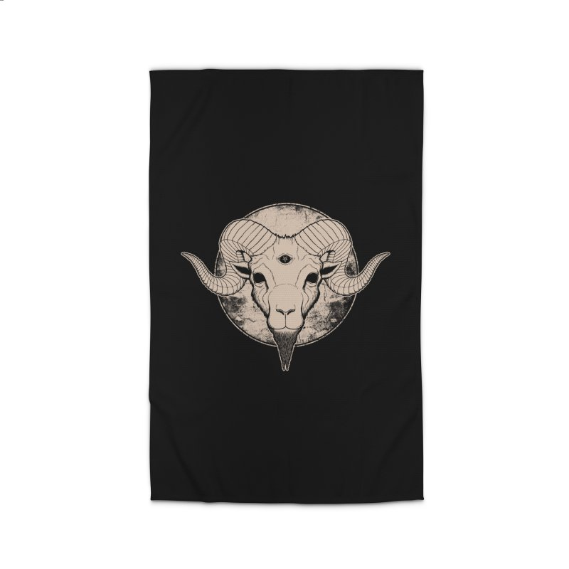 Three Eyed Goat Home Rug by The Evil Goods Shop