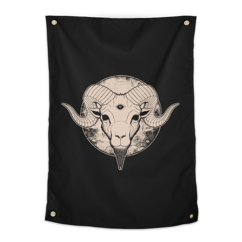 Three Eyed Goat Home Tapestry by The Evil Goods Shop