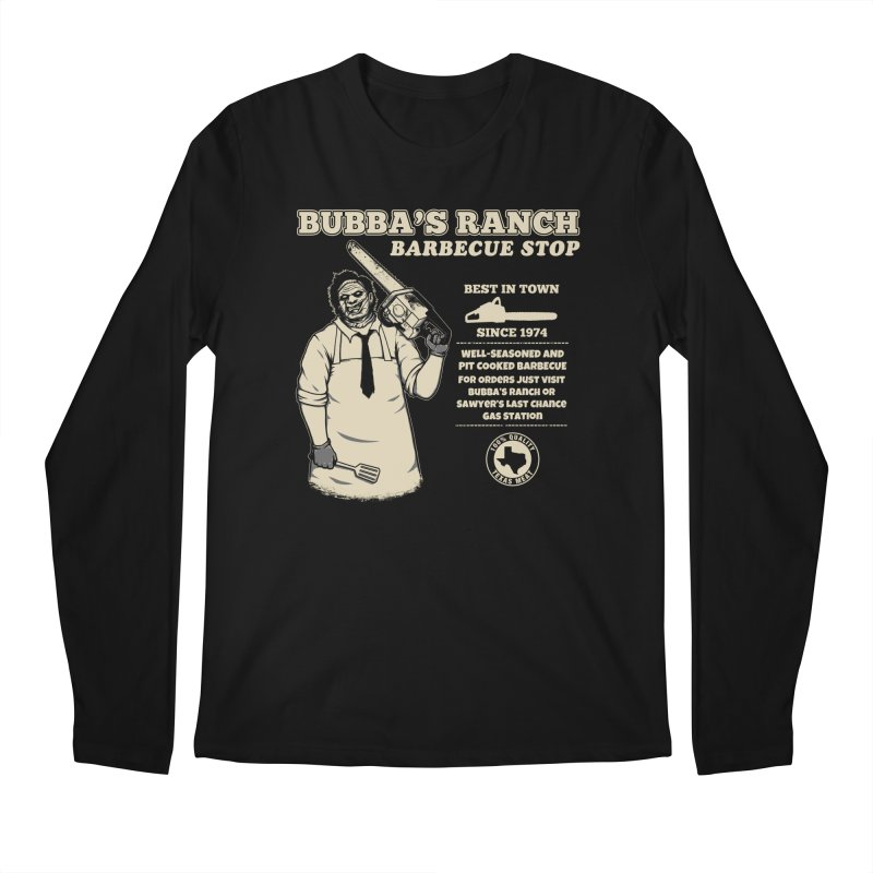Bubba's Ranch BBQ Stop Men's Longsleeve T-Shirt by The Evil Goods Shop