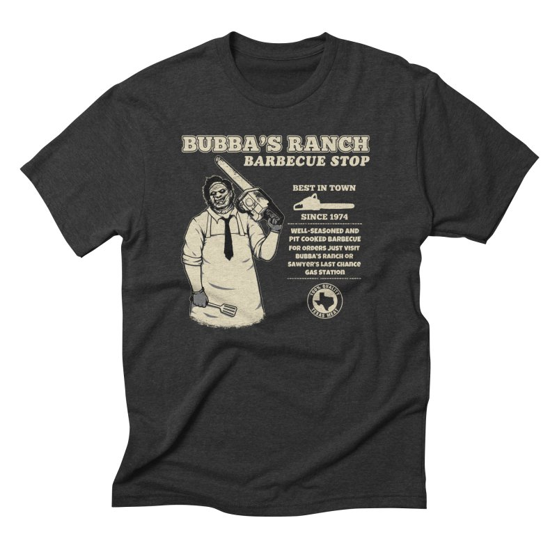 Bubba's Ranch BBQ Stop Men's Triblend T-shirt by The Evil Goods Shop