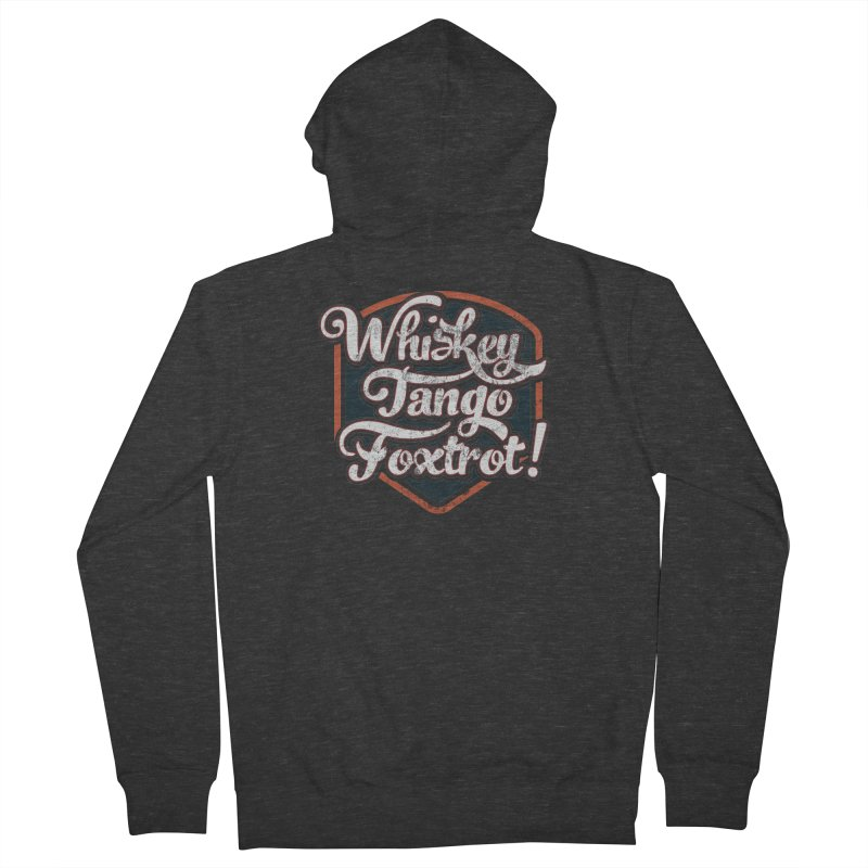 Whiskey Tango Foxtrot: Code Grey Men's French Terry Zip-Up Hoody by The Factorie's Artist Shop