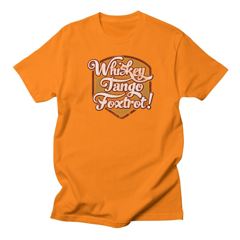 Whiskey Tango Foxtrot: Code Orange Men's Regular T-Shirt by The Factorie's Artist Shop