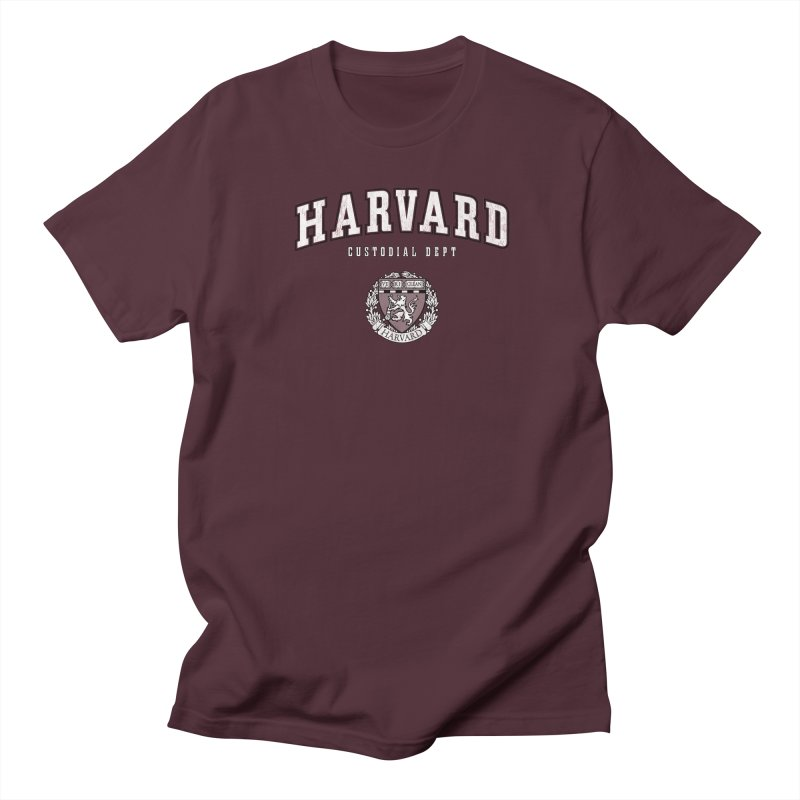 Harvard Custodial Dept Men's Regular T-Shirt by The Factorie's Artist Shop
