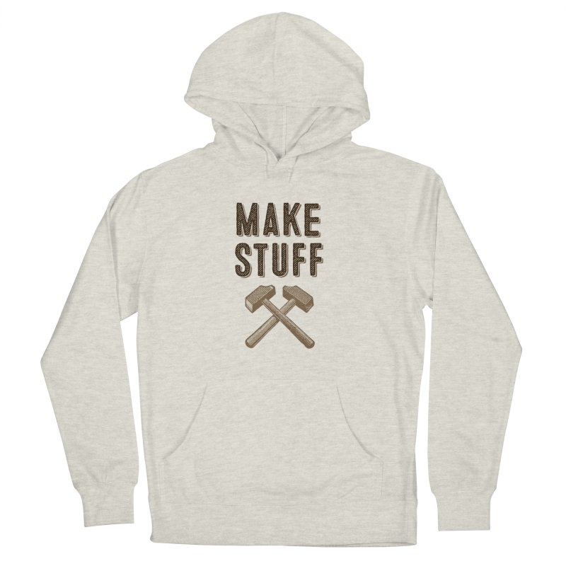 Maker's Credo: Tan Men's French Terry Pullover Hoody by The Factorie's Artist Shop