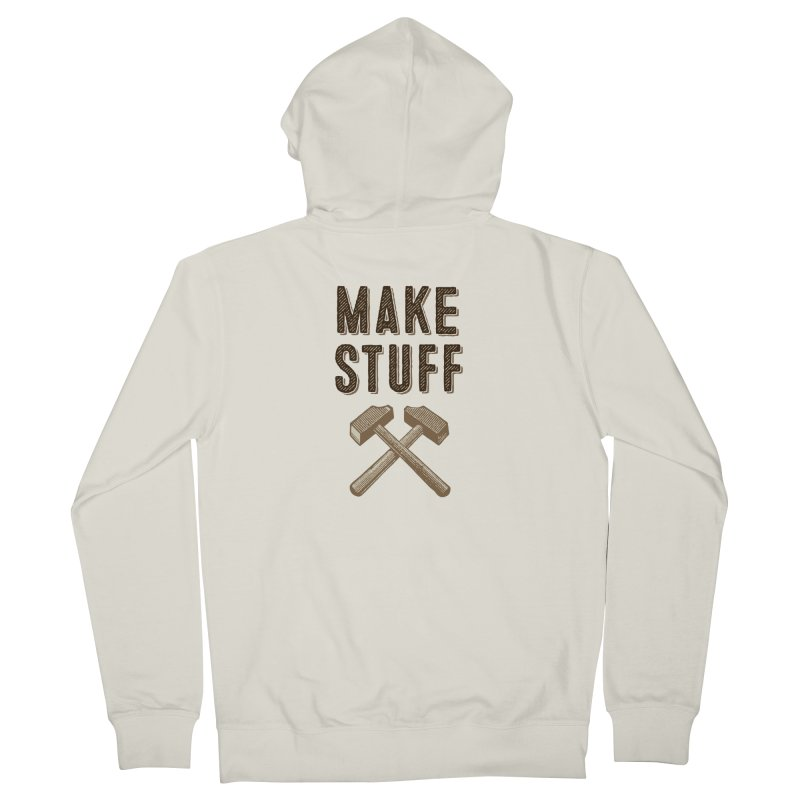 Maker's Credo: Tan Men's French Terry Zip-Up Hoody by The Factorie's Artist Shop