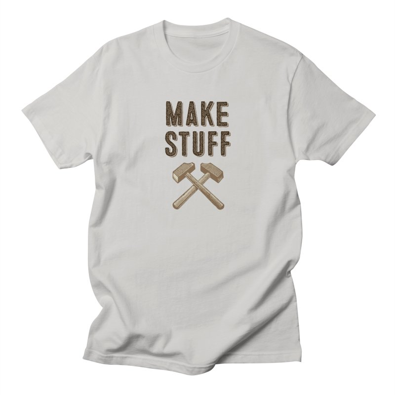 Maker's Credo: Tan Men's Regular T-Shirt by The Factorie's Artist Shop
