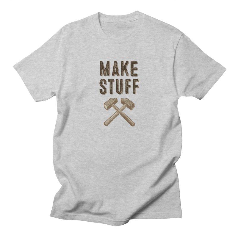 Maker's Credo: Tan Men's Regular T-Shirt by The Factorie's Artist Shop