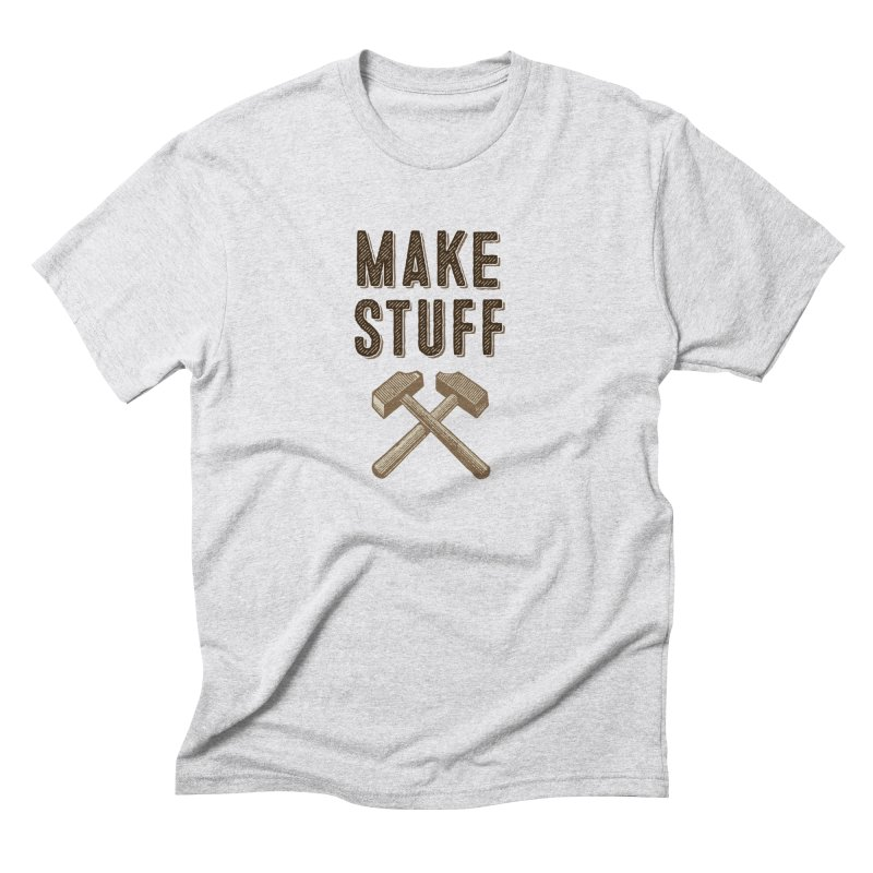 Maker's Credo: Tan Men's Triblend T-Shirt by The Factorie's Artist Shop