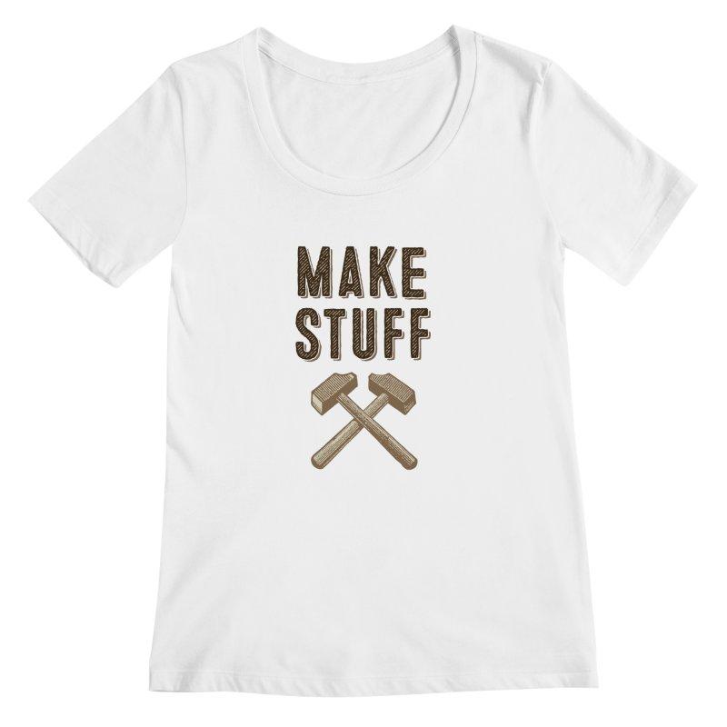 Maker's Credo: Tan Women's Regular Scoop Neck by The Factorie's Artist Shop