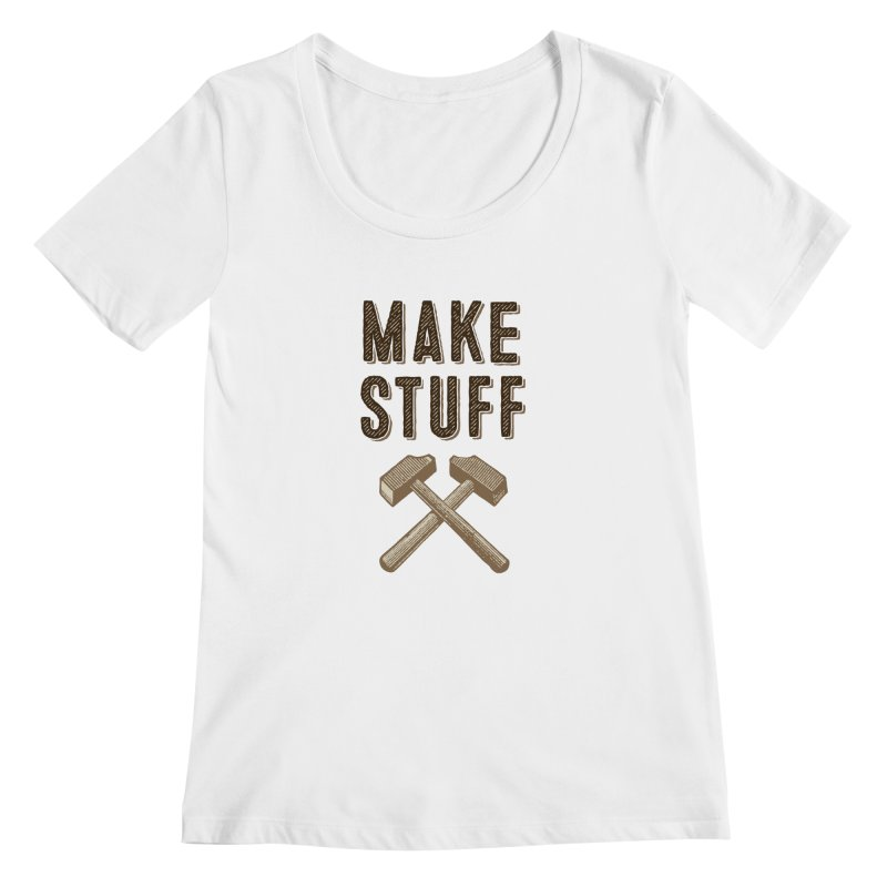 Maker's Credo: Tan Women's Scoopneck by The Factorie's Artist Shop