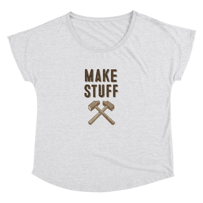 Maker's Credo: Tan Women's Dolman by The Factorie's Artist Shop