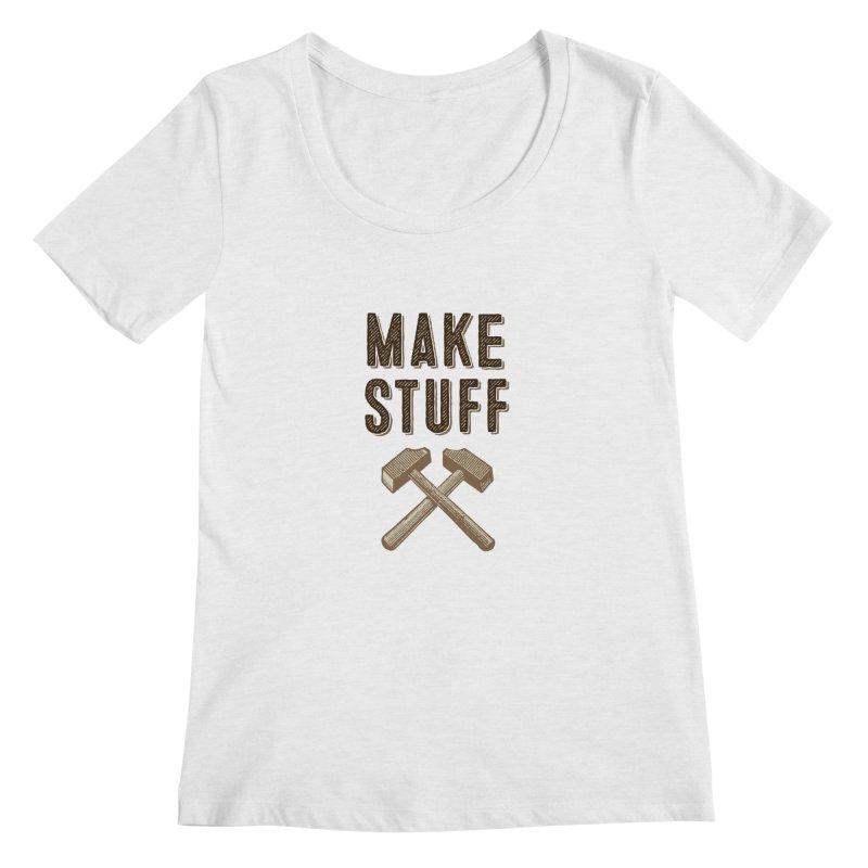 Maker's Credo: Tan Women's Scoop Neck by The Factorie's Artist Shop