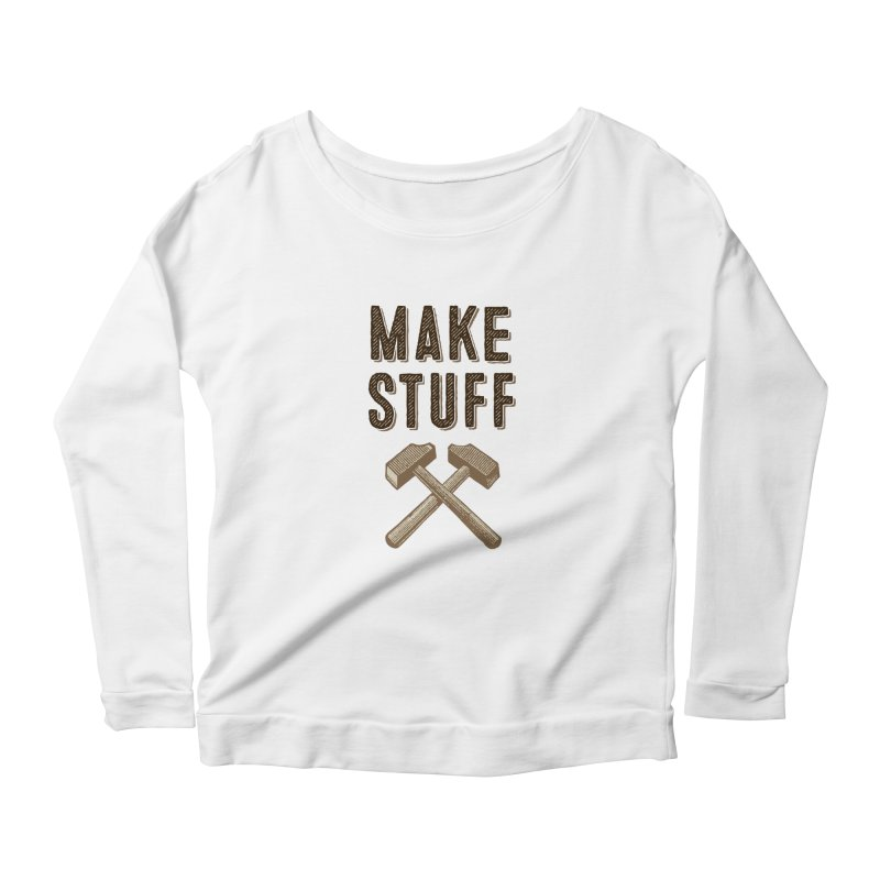 Maker's Credo: Tan Women's Longsleeve Scoopneck  by The Factorie's Artist Shop