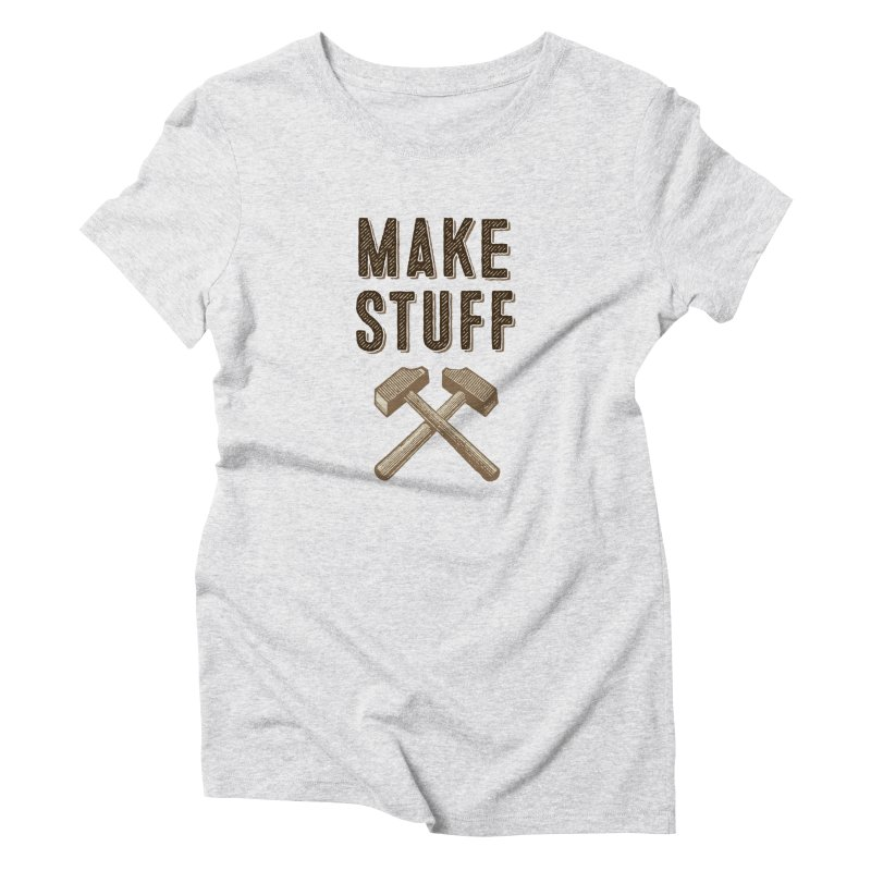 Maker's Credo: Tan Women's Triblend T-Shirt by The Factorie's Artist Shop