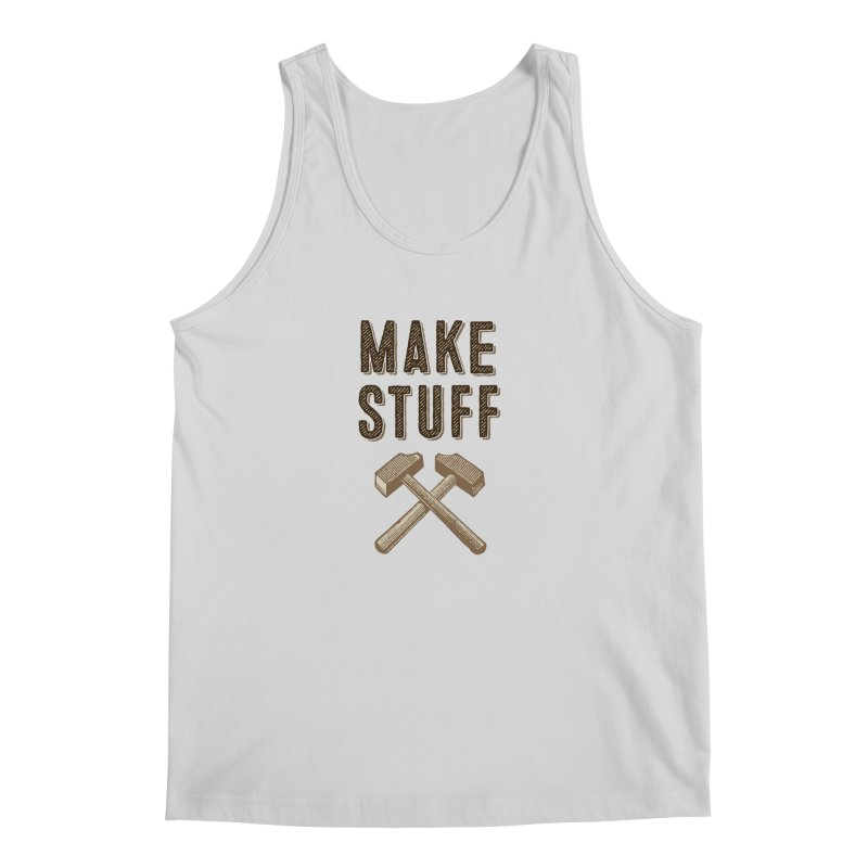 Maker's Credo: Tan Men's Regular Tank by The Factorie's Artist Shop