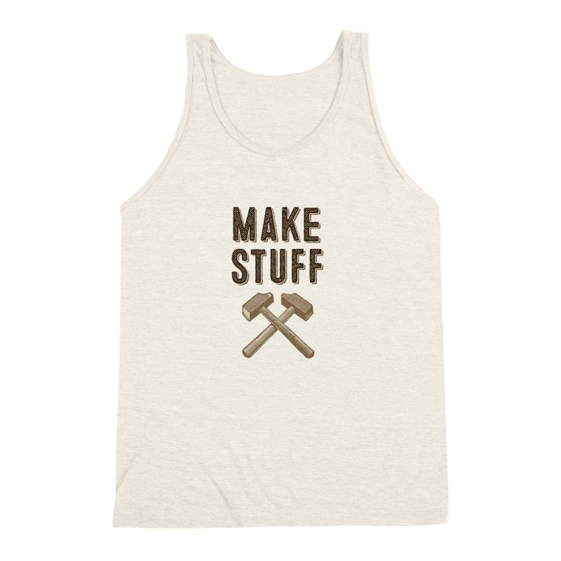 Maker's Credo: Tan Men's Triblend Tank by The Factorie's Artist Shop
