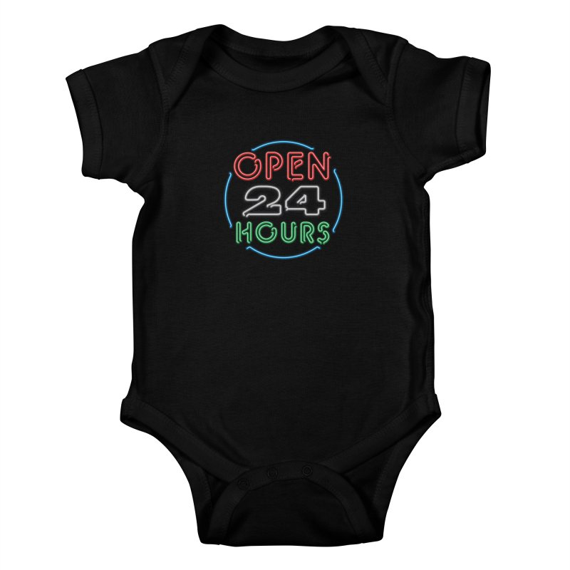 Up All Night Kids Baby Bodysuit by The Factorie's Artist Shop