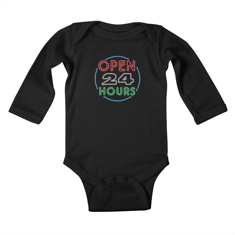 Up All Night Kids Baby Longsleeve Bodysuit by The Factorie's Artist Shop