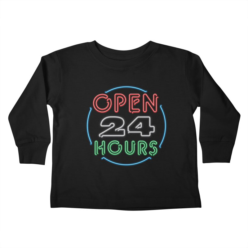 Up All Night Kids Toddler Longsleeve T-Shirt by The Factorie's Artist Shop