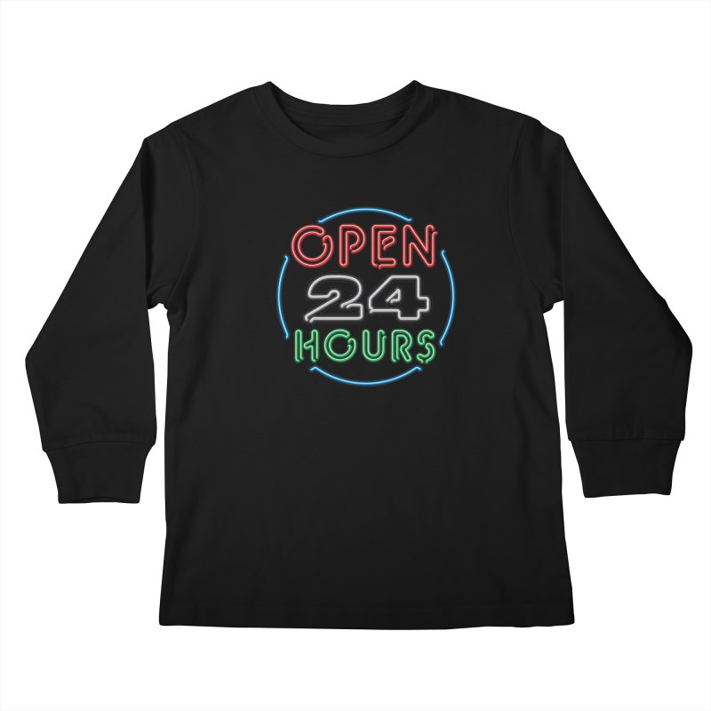 Up All Night Kids Longsleeve T-Shirt by The Factorie's Artist Shop
