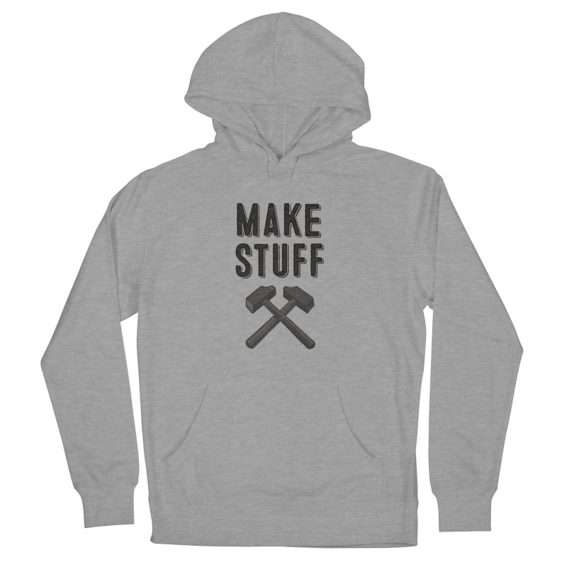 Maker's Credo: Grey Men's French Terry Pullover Hoody by The Factorie's Artist Shop