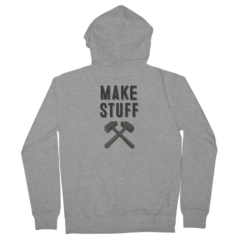 Maker's Credo: Grey Men's French Terry Zip-Up Hoody by The Factorie's Artist Shop