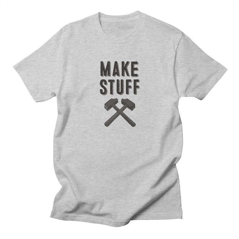 Maker's Credo: Grey Men's Regular T-Shirt by The Factorie's Artist Shop