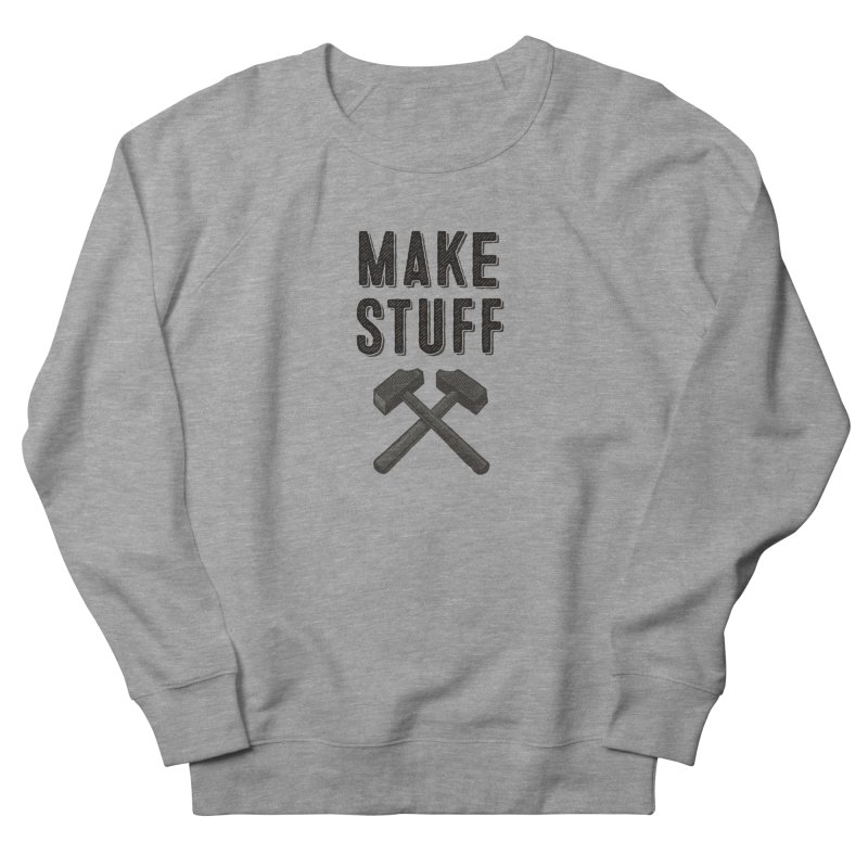 Make Stuff - Grey Men's Sweatshirt by The Factorie's Artist Shop