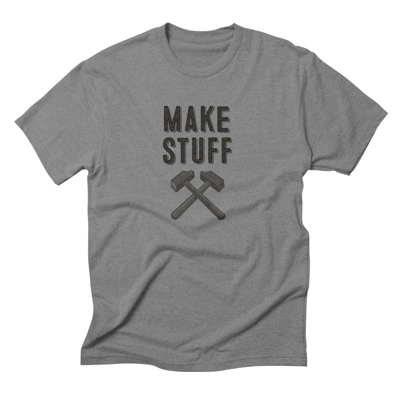 Maker's Credo: Grey Men's Triblend T-Shirt by The Factorie's Artist Shop