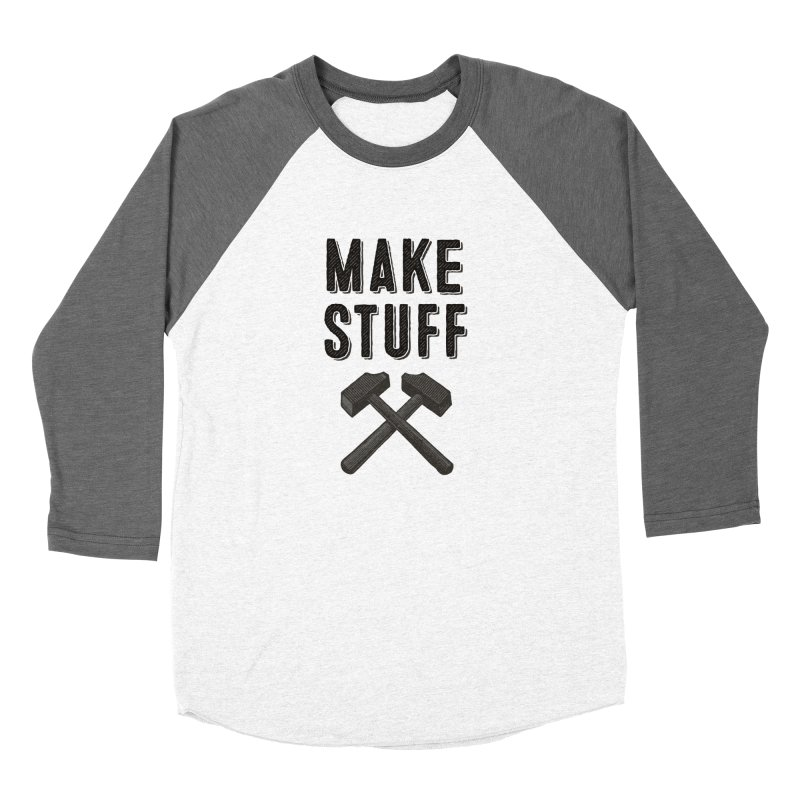 Make Stuff - Grey Women's Baseball Triblend T-Shirt by The Factorie's Artist Shop